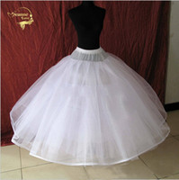 Wholesale Hoop Purple - 8 Layers Tulle Underskirt Wedding Accessories Chemise Without Hoops For A Line Wedding Dress Wide Plus Petticoat Crinoline 017