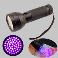 Wholesale uv flashlight scorpion resale online - 51 Lights LED Purple Light Flashlight UV Portable Catch The Scorpion Amber Test Check And Anticounterfeit Standard qt W