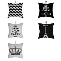 Wholesale cool crowns - Pillow case size 45*45cm fashion modern simple geometric letter building crown home linen pillowcase soft fit for adlut and chidlren