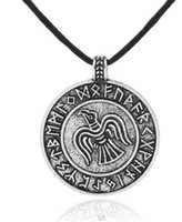 eagle hawk pendant Canada - Myshape Slavic Hawk Choker Viking Seagull Pendant Runes Nordic Necklaces Chain Eagle Charm Statement Necklace Jewelry for Women