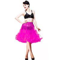 Wholesale Tutu Fabrics - 2015 Wholesale Women Soft Fabric 65 cm Long Sexy Chiffon Petticoat Rockabilly Pettiskirt Tulle Tutu Skirt Slip Retro 20 Colors