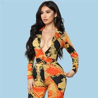 fdcf93f9c55 2018 Spring Autumn Women Long Jumpsuit Fashion Printed Playsuit Long-Sleeve  Elegant Rompers Casual Bodysuit Women Plus Size customizable Fre