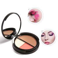 Wholesale sleek powder - Focallure Makeup Blush Palette Contour Sleek Shade Natural Flush Cheek Color Blusher Face Shadow Cosmetics 3 Colors