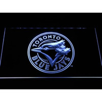 Wholesale neon football signs - 7 Colors Toronto Blue Jays Circle Logo LED Neon Sign Light Football Sports Team Custom Neon Signs led Design Your Own Bar Signs Drop Ship