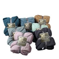Wholesale blankets for king beds - Luxurious Large Warm Thick Sherpa Throw Blanket Coverlet Reversible Fuzzy Fluffy Microfiber All Season Plaid for Bed or Couch