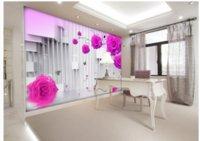 фото фото оптовых-Пользовательские Любой Размер Росписи Обои Розовое Вино ТВ Фон Спальня Фото Обои 3D Личность Настенные Росписи Обоев Живопись