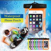 su geçirmez kuru paketler toptan satış-Su geçirmez Sualtı Şamandıra Kese Çanta Cep Telefonu iPhone Için Cep Telefonu Kuru Çanta Kılıfı Paketi Vaka iPhone EEA124