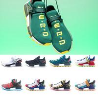 79ef96acf5099 Adidas NMD Human Race Boost Nerd Corrida Humana Trilha Solar Afro Pack Tênis  De Corrida Das Mulheres Dos Homens Pharrell Williams HU SOLARHU Corredor ...