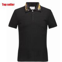 Wholesale beige tops - 2018 Summer Designer T Shirts For Men Tops Tiger Embroidery Poloshirt Mens Snake Brand Short Sleeve Tshirt Women Tops Size M-3XL