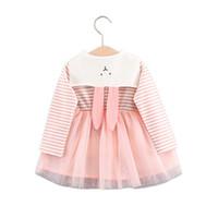 lacivert tarzı bebek elbiseleri toptan satış-Nedensel bebek kız dantel elbise zarif ekose lacivert tarzı pamuk prenses elbise 1-3yrs kızlar çocuklar için çocuk katı vestido ...