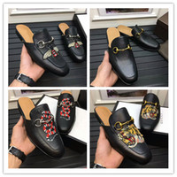 Wholesale closed toed sandals - HOt sale 2017 New Genuine Leather Horsebeit Loafers Scuffs Slippers Sandals casual shoes for your foot and comfortable