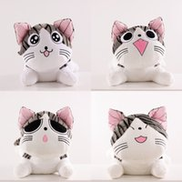 Wholesale figure japan - Soft 20cm plush toys Christmas Birthday Gifts Japan Anime Figure Cheese Cat Plush Stuffed Toy Doll Pillow Cushion Kawaii Toy for kid toys