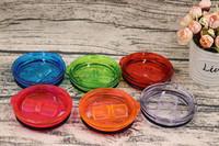 Wholesale food covering plastic resale online - 20 ounce Tumbler Lids mug cover Spill Proof lids Splash Resistant Lids Covers colors Food grade AS plastic push