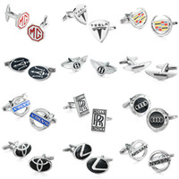 Wholesale WN hot sale car logo cufflinks high quality copper men s French shirt cuff links and retail