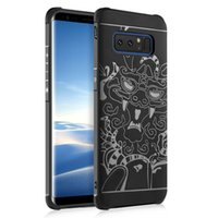 ingrosso iphone inciso indietro-Lucky Dragon Embossed Engraved Pattern Case per iPhone X 8/7 6 / 6S Plus SE / 5S / 5 Galaxy S8 Plus A520 Custodia protettiva in Silicone TPU Slim Back Cover