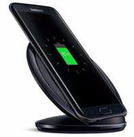 almofada do telefone do iphone venda por atacado-Carregador sem fio qi portátil s7 iphone carregadores universal rápido vertical de carregamento pad telefone celular para iphone samsung telefone acessórios