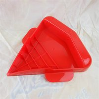 Wholesale pizza trays - Rapid Pizza Reheater Heating Plate Microwave Oven Box Baking Tray Red PP Thermostability Bakeware Tool Triangle Hot Sale 7jm V