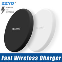 Wholesale portable ip phone online - ZZYD For iP X Q16 Wireless Charger with USB Cable Portable Quick Charging For Samsung S8 S8P S7 Smart Phone