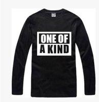 camiseta larga bigbang al por mayor-Envío gratis Nueva Carta de impresión camiseta de moda hombres / mujeres camiseta de algodón BIGBANG uno de un tipo de manga larga camiseta