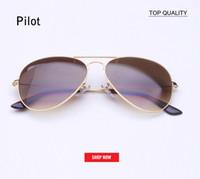 lunettes de soleil de 62 mm achat en gros de-Hot new Classic Marque Aviation lentilles en verre Gradient lunettes de soleil hommes femmes uv400 lunettes de soleil Mâle 58mm 62mm lentille gafas de sol mujer lunettes de soleil