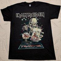 ingrosso migliore ferro caldo-HOT good Iron Maiden The Trooper Beer Maglietta nera Book of Souls Tour 2017 migliore