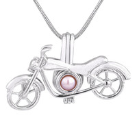 Wholesale Motorcycle Chain Necklace - Motorcycle Pearl Cage Pendant Jewelry Making Beads Cage Pendant Essential Oil Diffuser Locket For Oyster Pearl 190 Styles CP032