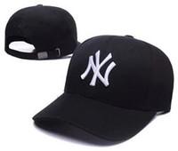 casquettes de baseball à long rebord achat en gros de-2018 nouvelle Casquette NY chapeau long Snapback casquettes os masculin masculine papa chapeau classique chapeau de soleil printemps été mode Golf sports de plein air casquette de baseball