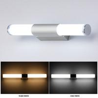 miroirs modernes led achat en gros de-Les lampes acryliques de mur de salle de bains ont mené la lumière de miroir imperméable à l'eau 12W 16W 22W AC85-265V tube de lampe de mur de mur de LED moderne d'éclairage de salle de bains