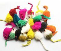 детские игрушки для мальчиков оптовых-2019 горячий продавать 5 см мех кролика ложные мыши Pet Cat игрушки мини смешно играть игрушки для кошек котенок Полихроматические смеси