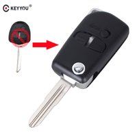 Wholesale mitsubishi car key remote buttons for sale - Group buy case for car key KEYYOU Modified Buttons Flip Folding Remote Car Key Shell Case For Mitsubishi Lancer Pajero Triton Uncut Blade