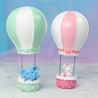 Wholesale pink baby shower cupcakes resale online - 10pcs Pink Blue Balloon rabbitElephant Cupcake Toppers Baby Shower for Boy s Birthday Party Decoration
