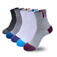 Wholesale Cotton Knit Dresses - High Quality Brand Pure Cotton Men Socks Male Casual Colorful Crew Socks Man Business Dress Socks 5Pairs