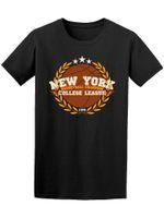 imagens roupa venda por atacado-New York College League Men Tee -Image by Shutterstock Impresso Estilo Verão Tees Masculino Harajuku Top Vestuário de Fitness Marca