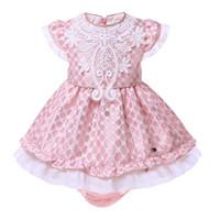 3c02c4cd3c5d Pettigirl Neonate Abiti da principessa rosa puntini con pp-pantaloni Bambini  Costumi estivi Boutique Vestiti per bambini G-DMCS101-A216