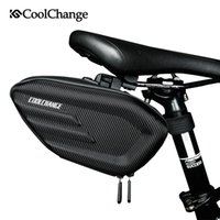 Wholesale red bike seat - CoolChange Bicycle Saddle Bag Waterproof MTB Bike Rear Bag Reflective Cycling Rear Seat Tail Large Bike Accessories