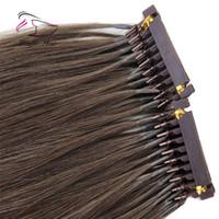 remy haarprodukte großhandel-2019 neue produkte haar angepasst farbe erhältlich 6d menschliche haarverlängerungen # 2 markieren 25grams / beutel kann mit eisen gestylt werden