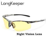 защищать диск оптовых-Поляризованные солнцезащитные очки Мужское ночное видение автомобиля Вождение солнцезащитные очки Прохладный камуфляж Вождение Безопасность Защитные очки HD очки