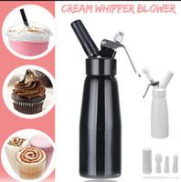 peitschenspender großhandel-500 ml Aluminium Whipped Dessert Creme Butter Dispenser Whipper Schaum Maker Frische Creme Butter Dispenser Eis Werkzeuge KKA6055