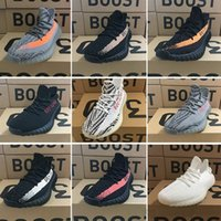 Wholesale dark red wrap - sply Boost 350 v2 Blue Tint Zebra men's Running Shoes women Sneakers,Orange AH2203 b37571 Zebra White Core Black Red Semi With Box