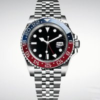 Wholesale luxury mens watch president online - Luxury Roles New Gent s GMT II Automatic Watches Stainless Steel Dive Basel Blue Red Master mm Mens Watch AAA President Relogio Mens Watch