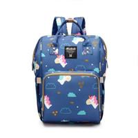Wholesale bebe bags - New Model Fashion Mommy Maternity Bag Diaper Nappy Bag Bolsa Maternida Printed Bebe Travel Backpack Desiger Nursing Baby