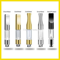 Wholesale CE3 Cartridge Vape Tank Gold Metal plastic Drip Tips WAX Thick Oil Vaporizer Atomizer For BUD Touch O Pen Battery