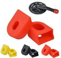 accesorios fijos para bicicletas al por mayor-Alta calidad Cycling Protector Cover Cap Accesorios de la bicicleta Mountain Bike Fibra de carbono Fixed Gear Pedal Crank Case