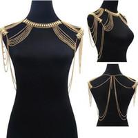 cadenas de joyas de hombro al por mayor-Nuevo Collar Maxi Hot Body Boho Joyería Declaración Collar Cadena de Hombro Multilayer Tssel Collar Para Las Mujeres Collier