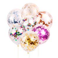 balon ballon toptan satış-50 adet 12 inç Altın Konfeti Balonlar Lateks Konfeti Ballon Mutlu Doğum Günü Balon Düğün Dekorasyon Olay Parti Malzemeleri