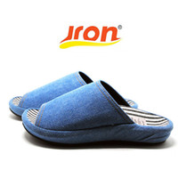 Wholesale anti slip sofa - Jron Spring Autumn Woman Slipper Toes Exposed Household Cotton Sofa Fabric Slipper Water-proof Anti-slip Sole Men Indoor