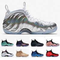 Wholesale fleece shoes - Chrome Penny Hardaway Fleece Alternate Galaxy Air Eggplant Basketball Shoes Island Green Metallic Gold Element Rose Red sport Sneaker 41-47
