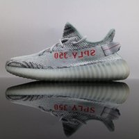 Wholesale real size women - 2018 Women Mens Running Shoes Sneakers for Real Boost Quality Boost 350 V2 Designer Luxury Sport Canvas Casual Shoe Size 9 12 13