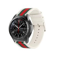 22mm bandas de reloj de nylon al por mayor-Difeini Samsung Gear S3 correa de reloj correa de repuesto 22 mm de nylon estilo deportes correa de reloj para Samsung Gear S3 blanco