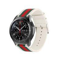 pulseiras de nylon pulseiras de relógio 22mm venda por atacado-Difeini samsung gear s3 faixa de relógio fronteira 22mm estilo de nylon esportes de couro strap para samsung gear s3 branco